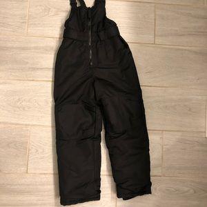 Boys Cherokee black snow bibs pants 5T